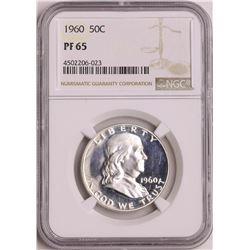1960 Proof Franklin Half Dollar Coin NGC PF65