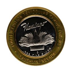 .999 Fine Silver Flamingo Laughlin, Nevada $10 Limited Edition Gaming Token