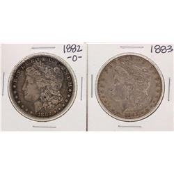 Lot of 1882-O & 1883 $1 Morgan Silver Dollar Coins