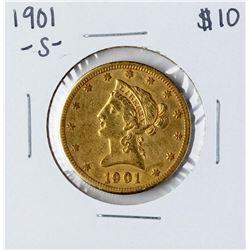 1901-S $10 Liberty Head Eagle Gold Coin