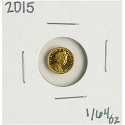 2015 Australia Gold Angel 1/64 oz Gold Coin