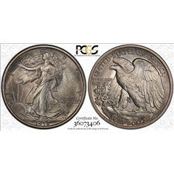 1918 Walking Liberty Half Dollar Coin PCGS MS63
