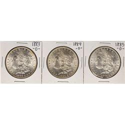 Lot of 1883-O to 1885-O $1 Morgan Silver Dollar Coins