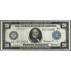 1914 $20 Federal Reserve Bank Note Philadelphia