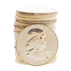 Roll of (20) Proof 1963 Franklin Half Dollar Coins