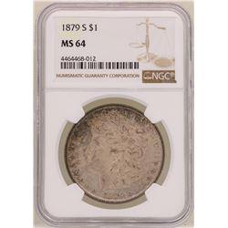 1879-S $1 Morgan Silver Dollar Coin NGC MS64