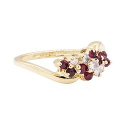 14KT Yellow Gold 0.50 ctw Ruby and Diamond Ring