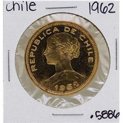 1962 Chile 100 Pesos Rebublica De Chile Gold Coin