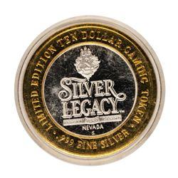 .999 Fine Silver Silver Legacy Reno, Nevada $10 Limited Edition Gaming Token