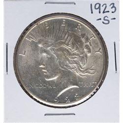 1923-S $1 Peace Silver Dollar Coin