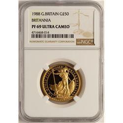 1988 Great Britain 50 Pounds Britannia Gold Coin NGC PF69 Ultra Cameo