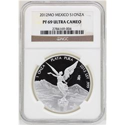 2012MO Mexico Onza Proof Silver Coin NGC PF69 Ultra Cameo