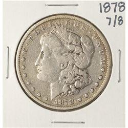 1878 7/8TF $1 Morgan Silver Dollar Coin