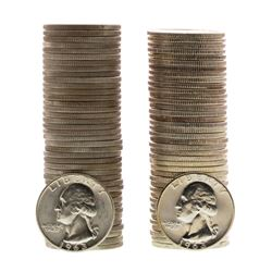 Lot of 1963 & 1963-D Brilliant Uncirculated Washington Quarter Coin Rolls