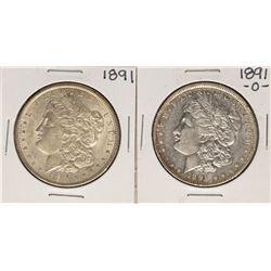 Lot of 1891 & 1891-O $1 Morgan Silver Dollar Coins