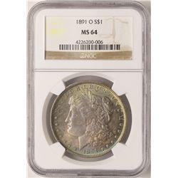 1891-O $1 Morgan Silver Dollar NGC MS64 Amazing Toning