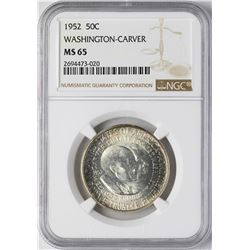 1952 Washington-Carver Commemorative Half Dollar Coin NGC MS65