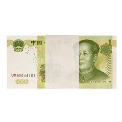 Pack of (100) Uncirculated 1999 China 1 Yuan Bank Notes