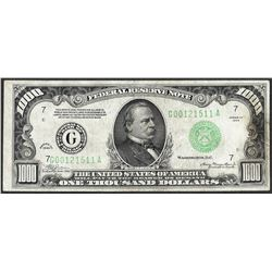 1934 $1,000 Federal Reserve Note Chicago