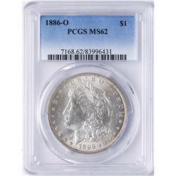 1886-O $1 Morgan Silver Dollar Coin PCGS MS62