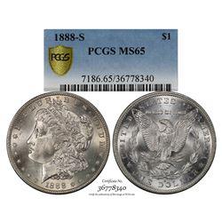 1888-S $1 Morgan Silver Dollar Coin PCGS MS65