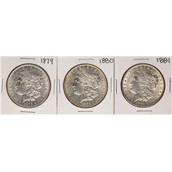Lot of 1879-1881 $1 Morgan Silver Dollar Coins