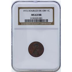 1972 Doubled Die Obverse Lincoln Penny NGC MS63RB
