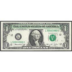 1974 $1 Federal Reserve Note Offset ERROR