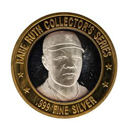 .999 Silver Babe Ruth Collector's Series $10 Casino Limited Edition Gaming Token