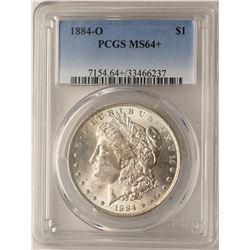 1884-O $1 Morgan Silver Dollar Coin PCGS MS64+