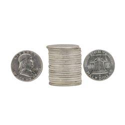 Roll of (20) 1949 Franklin Half Dollar Coins