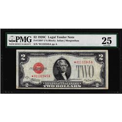 1928C $2 Legal Tender STAR Note Fr.1504* PMG Very Fine 25