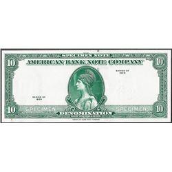 1929 Ten Unit American Bank Note Test Note