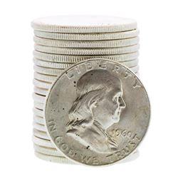 Roll of (20) Brilliant Uncirculated 1960 Franklin Half Dollar Coins