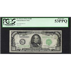 1934A $1,000 Federal Reserve Note Chicago Fr.2212-G PCGS About New 53PPQ