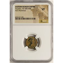 Arcadius, 383-408 AD Ancient Eastern Roman Empire Coin NGC VF