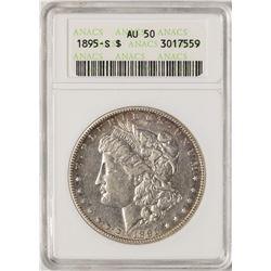 1895-S $1 Morgan Silver Dollar Coin ANACS AU50