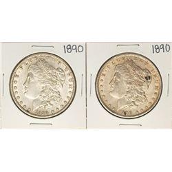 Lot of (2) 1890 $1 Morgan Silver Dollar Coins