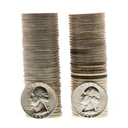 Lot of 1958 & 1958-D Brilliant Uncirculated Washington Quarter Coin Rolls
