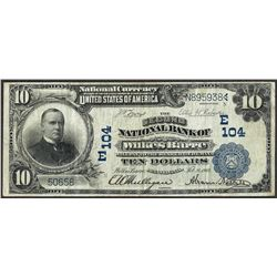 1902 $10 Second NB of Wilkes-Barre, PA CH# 104 National Currency Note