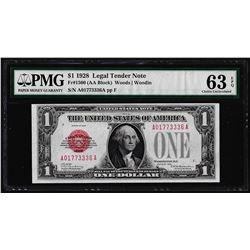 1928 $1 Legal Tender Note Fr.1500 PMG Choice Uncirculated 63EPQ