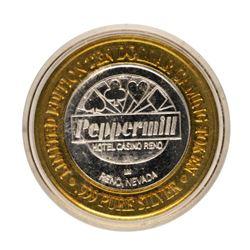 .999 Fine Silver Peppermill Reno, Nevada $10 Limited Edition Gaming Token