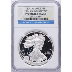 2011-W $1 American Silver Eagle Coin NGC PF69 Ultra Cameo