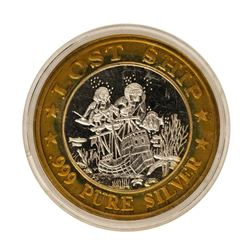.999 Fine Silver Lost Ship Luxury Cruise $10 Limited Edition Gaming Token