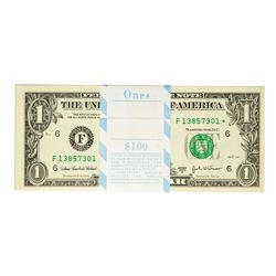 Pack of (100) Consecutive 2003A $1 Federal Reserve STAR Notes Atlanta