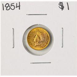1854 $1 Indian Princess Head Gold Dollar Coin