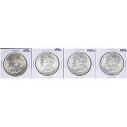 Lot of (4) 1896 $1 Morgan Silver Dollar Coins