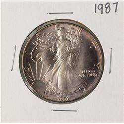 1987 $1 American Silver Eagle Coin Amazing Toning