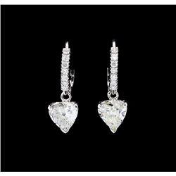 14KT White Gold 1.44 ctw. Diamond Dangle Earrings