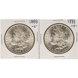 Lot of (2) 1888-O $1 Morgan Silver Dollar Coins